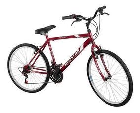 Bicicleta Houston Hammer Foxer Aro 26 18 Marchas Vermelha