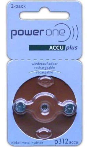 Imagen 1 de 1 de Powerone Accu Plus Size 312 Pilas Recargables Para Audifonos