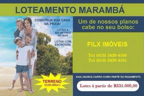 Terreno No Jd Marambá Lado Praia À 650 Mts Do Mar | 3444 E