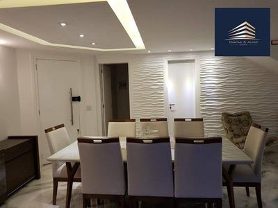 Cobertura Duplex 204m², Vila Augusta, 5 Vagas Cobertas, Condomínio Supera - Estuda Permuta. - Co0009