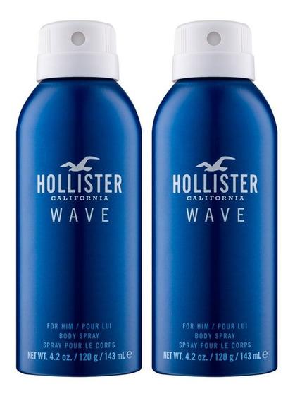2 - Body Spray Hollister Wave For Him 143 Ml - Original