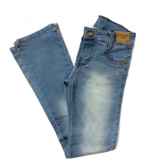 Calça Flare Jeans Menina Infantil Juvenil 4 6 8 10 12 14 16