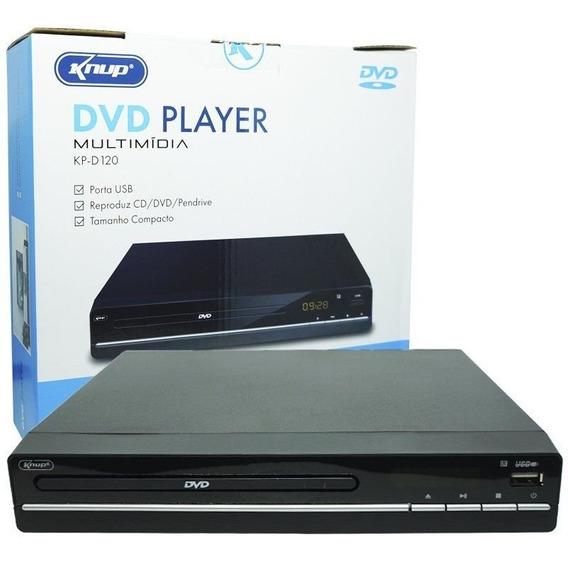 Aparelho Dvd Player Cd Ripping Rca Usb Mp3 Controle Bivolt
