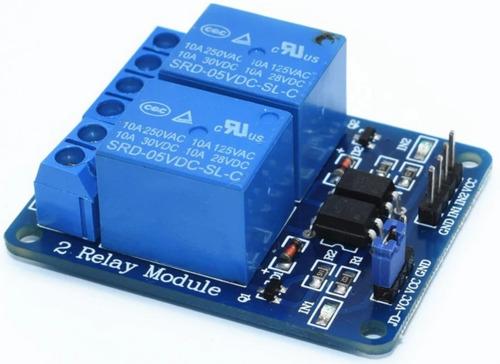 Imagem 1 de 8 de 3 Módulo Relé 2 Canais 5 V - P/ Arduino  Nodemcu Raspberry