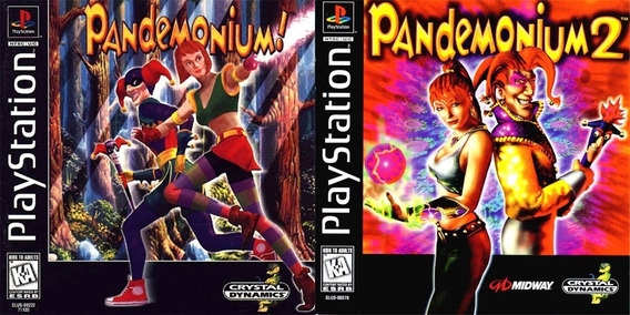 Promoção Coleção 2 Jogos Pandemonium Ps1 Patch