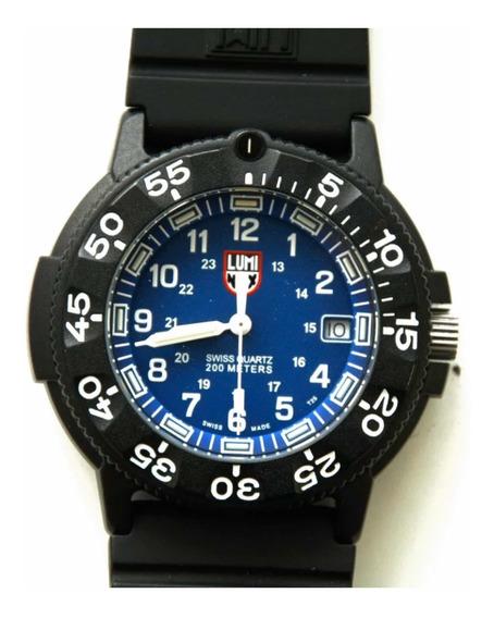 Relógio Luminox Navy Seal Fundo Azul