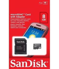 Kit 4 Cartão De Memoria Sd Card/micro 8gb Sandisk-lacrado
