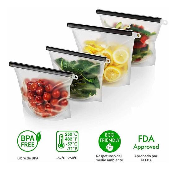 Bolsa De Silicona Reutilizable Para Guardar De Alimentos