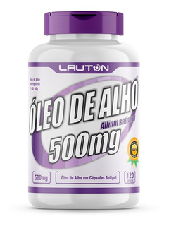Óleo De Alho 500mg - Pote 120 Cápsulas - Lauton Nutrition