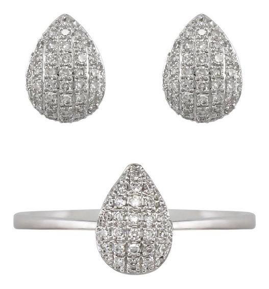Set De Joyería Con 125 Diamantes 0.24q Oro De 14k