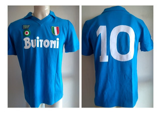 Camisa Napoli Ennerre 1987-1988 Maradona 10 - Buitoni - Rara