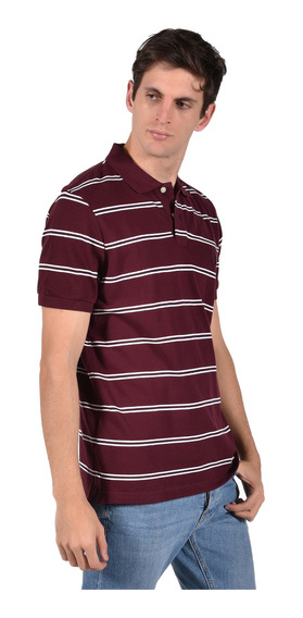 Polo Stretch Fit Chaps Vino 750707004-33em Hombre