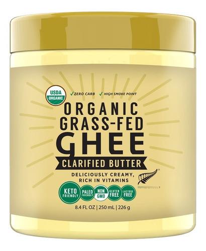 Imagen 1 de 4 de Ghee Milkio Organico Grass Fed 250ml Importado Nueva Zelanda