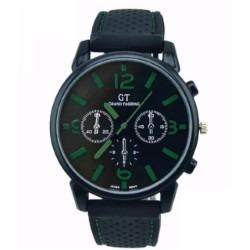 Reloj Negro Con Numeros Color Verde