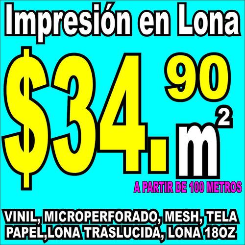 Imagen 1 de 2 de Maquila Impresion Lona Vinil Campaña Politica Publicidad