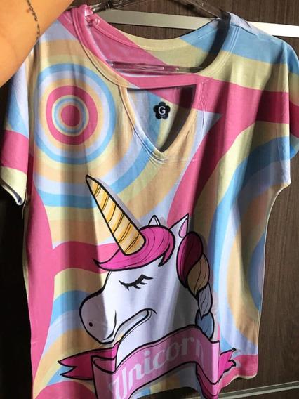 Blusa Feminina T Shirt Camisetas, Com Preço De Fabrica!