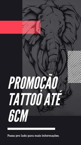 3 Tattoo Até 6cm, Preto E Cinza