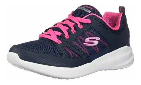 Tenis Skechers Skybound Para Mujer, Talla: 25, Color: Azul M