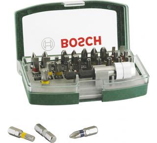 Set Kit Juego Bosch Promoline 32 Piezas Puntas Ph Pl Hex Torx Sec Pozidriv + Soporte Universal Magnetico + Estuche