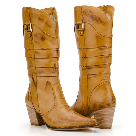 Bota Texana Feminina Country Capelli Boots Em Couros 3110