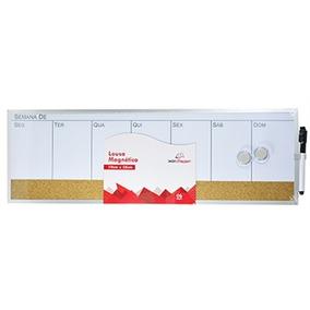 Quadro Lousa Magnetico Planejamento Semanal 19x58cm 2imãs