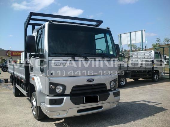 Ford Cargo 1119 Ano 2015/2015 Carroceria De Ferro 5,60 Mts