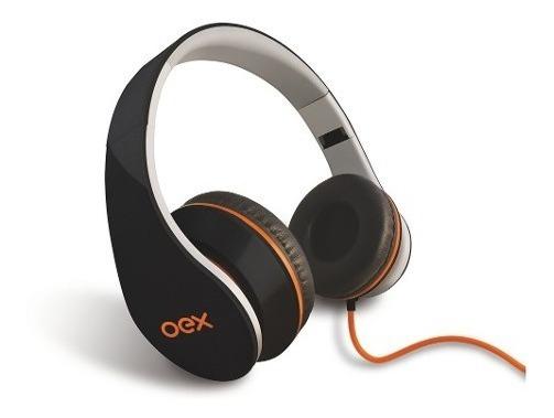 Fone De Ouvido Headset Sense Hp100 Preto Com Microfone Oex