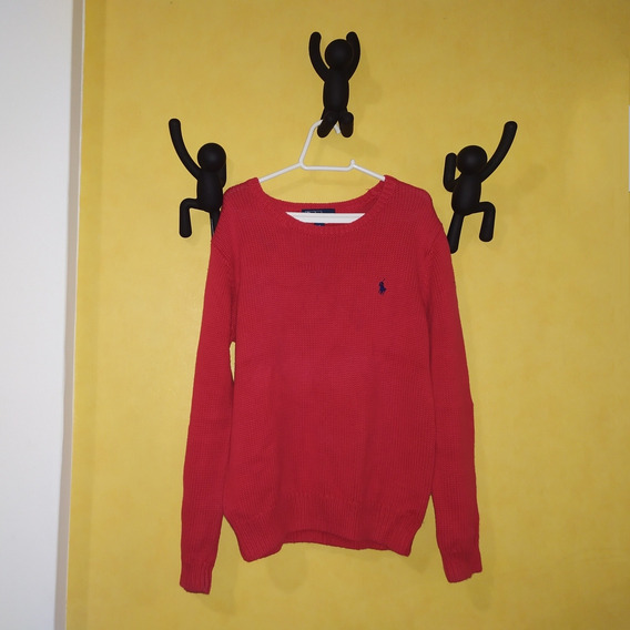 Casaco De Linha (tricô) Vermelho_sueter Ralph Lauren Tam 6