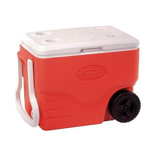 Caixa Térmica Com Rodas 38 L Vermelha 40qt Coleman