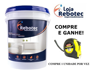 Rebotec 20 Kg Impermeabilizante - 12x S/juros Brinde Trena