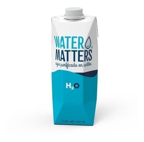 Agua Purificada En Cartón