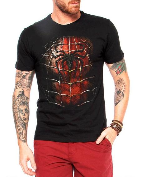 Camisa Camiseta Herói Marvel Homem Aranha Peitoral