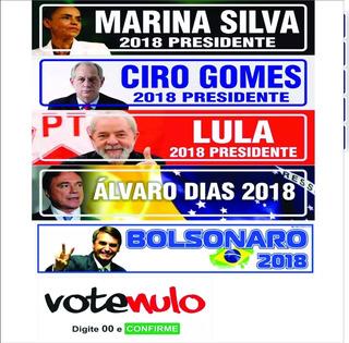Adesivos Presidente 2018 Álvaro Dias Ciro Lula Marina 200pçs