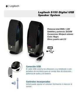Parlante Logitech Usb S150