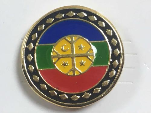 Pin Mapuche Bandera Redonda
