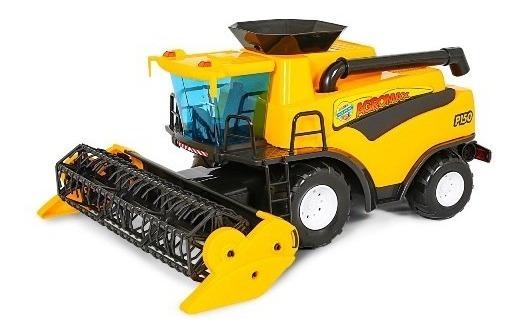 Brinquedo Poliplac Colheitadeira Amarela Fazendeiro