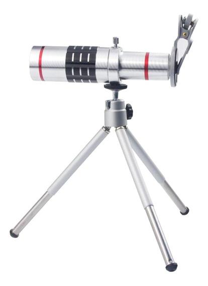 18x Telescópio Zoom Da Câmera Lente De Telefoto Kit & Trip