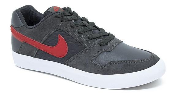 Tênis Nike Sb 942237 Delta Force Vulc Cinza/vermelho