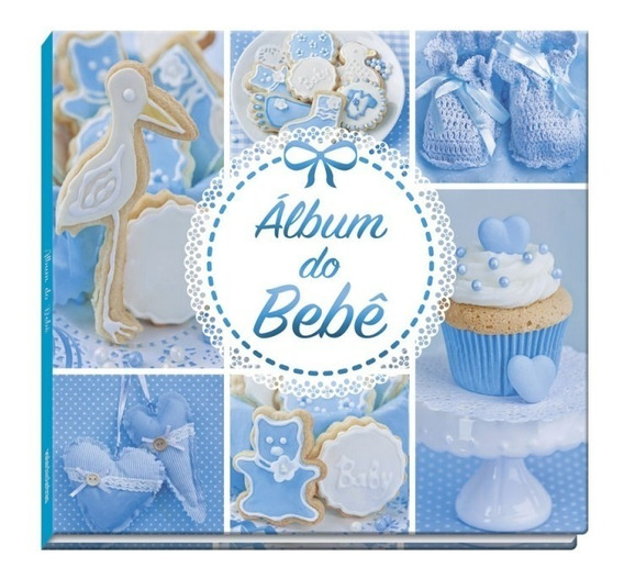 Álbum De Bebê Para Menino - Azul - Vale Das Letras
