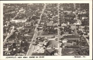 Cartão Postal Antigo Joinville Sc Centro Da Cidade