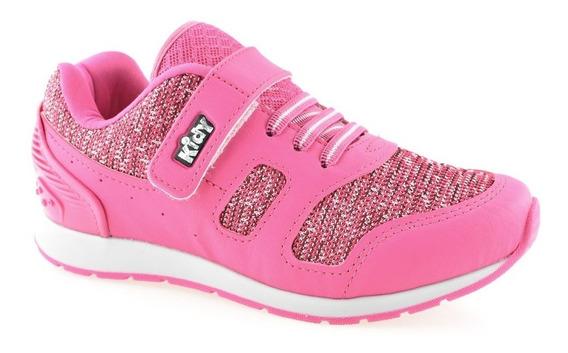 Tênis Infantil Rosa Menina Kidy Style 09711257062   Baby
