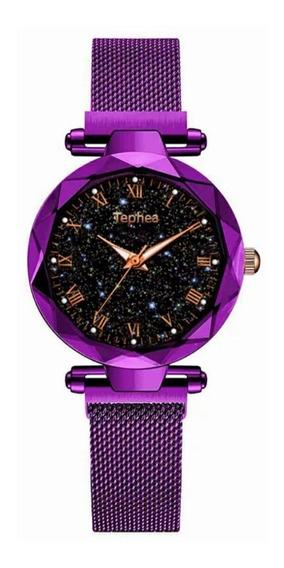 Relógio Feminino - Céu Estrelado - Pulseira Magnética - Promoção