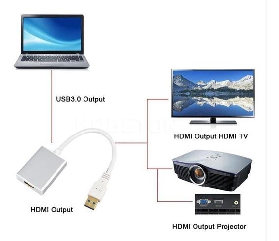 Convertidor Adaptador Usb A Hdmi Laptop Pc A Tv Hd 2.0 Y 3.0
