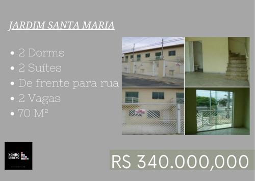 Casa 2 Dorms 2 Suíte 2 Vagas Jd. Santa Maria
