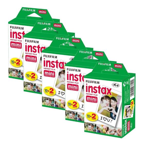 5 Packs Filmes Instax Mini 20 Poses - 100 Fotos No Total