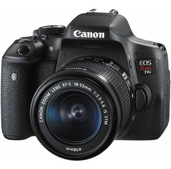 Câmera Canon Eos Rebel T6i C/ 18-55mm Is Stm