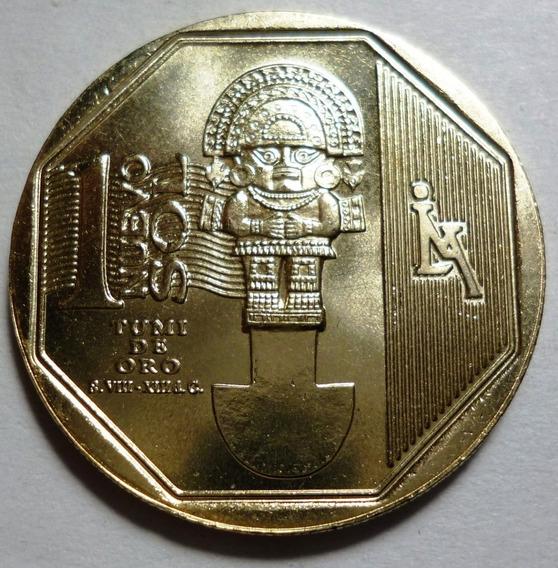 Peru Moneda 1 Sol 2010 Tumi De Oro Unc Sin Circular