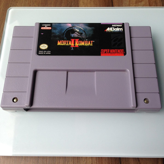 Cartucho Mortal Kombat 2 Original - Super Nintendo