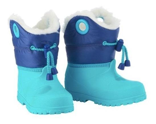 Bota Infantil Bebê Menino Neve Inverno Impermeável Acolchoad