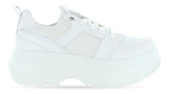 Trender Tenis Negro Con Suela Blanca